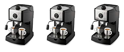 De'Longhi EC155 15 BAR Pump Espresso and Cappuccino Maker (3-(Pack))