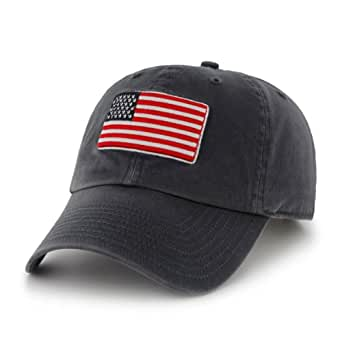 USA Country Flag Clean Up Adjustable Cap Navy, One-Size Fits Most
