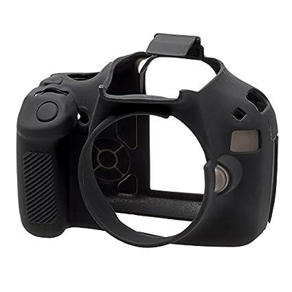 Walimex ECC1100DB - Carcasa de Silicona para Canon 1100D, Negro ...