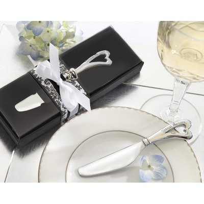- Spread the Love Chrome Spreader with Heart-Shaped Handle (Qty 1) - Party Favors