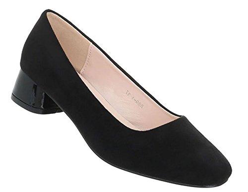 Schuhcity24 Damen Schuhe Pumps Bequeme Schwarz