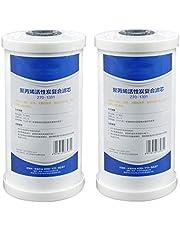 10 X 4,5 Waterzuivering Composiet Filterelement Aan Voorkant, 25 Micron Smeltgeblazen Actief Koolstoffilterelement, Gebruikt Gootsteenwaterzuiveraar In Het Hele Huis (2 Stuks)