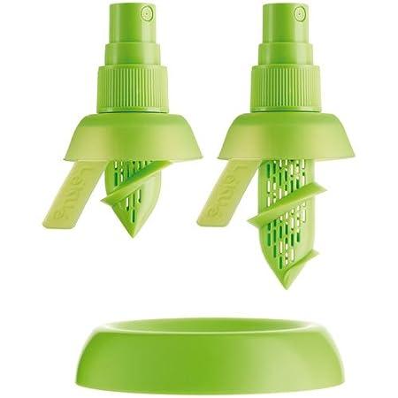 Lékué Exprimidor, Silicona, Verde, 2 unidades: Amazon.es: Hogar