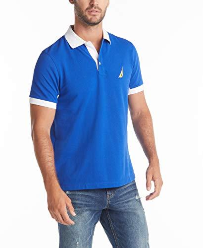 Nautica Men's Classic Fit Short Sleeve Performance Pique Polo Shirt