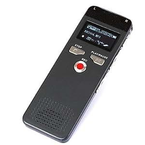 tisers Calidad hiigh fino fino lápiz digital grabadora de voz dictáfono grabadora voz activa 8GB con reproductor de mp3
