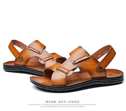 primavera estate Il nuovo Uomini sandali moda Spiaggia Uomini scarpa Tempo libero sandali ,giallo,US=7.5,UK=7,EU=40 2/3,CN=41