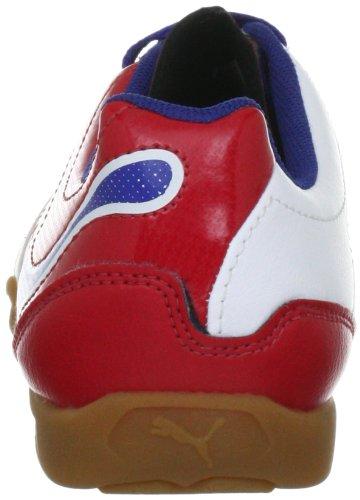 Puma PowerCat 4.12 IT Jr 102609 Unisex - Kinder Sportschuhe - Fußball Weiss (white-ribbon red-limoges 04)