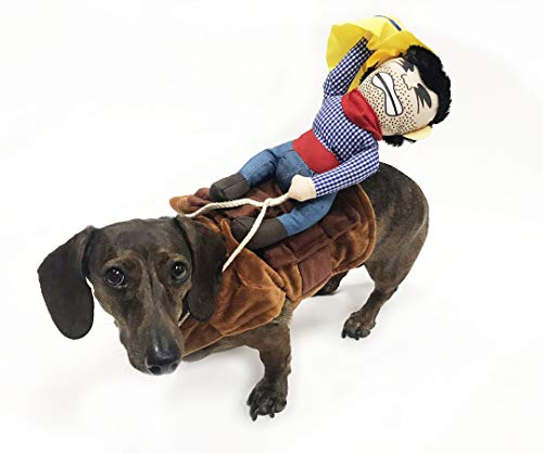 Midlee Bucking Bronco Cowboy Dog Costume (Small) ()