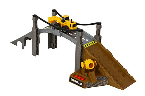 Cat Construction Toys For Toddlers : Toy state caterpillar construction playset bridge builder