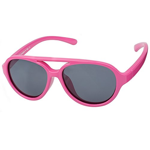 Duco Kids Aviator Polarized Sunglasses TPEE Flexible Frame Glasses for Boys and Girls, Age 3 to 7, - Teenage Glasses For Girls Frames