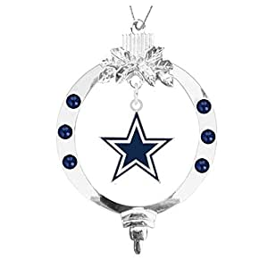 Amazon.com : Dallas Cowboys Star Christmas Ornament ...