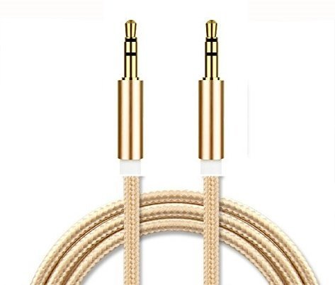 3115 Printer (I-Sonite (Gold) Gold Plated Nylon Material Braided 3.5Mm Jack To Jack Connection Aux Auxiliary Audio Cable [ 1 Meter ] For Zte Blade V8)