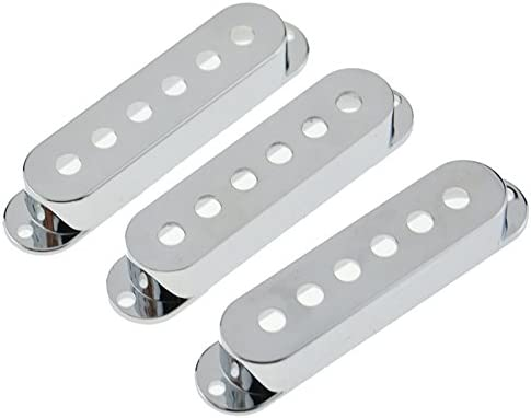 Stratocaster 52mm Pole Spacing Single Coil Pickup Cover Set of 3 Choose Colour