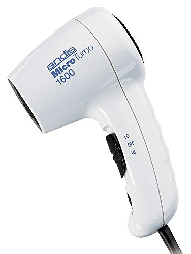 Andis Hair Dryer, Handheld, White, 1600 Watts - MT12 (Andis Dryer Travel Hair)
