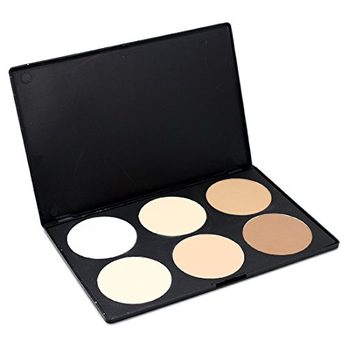 Price comparison product image Pro 6 Color Contour Face Powder Matt Palette Makeup Kit Concealer Palette