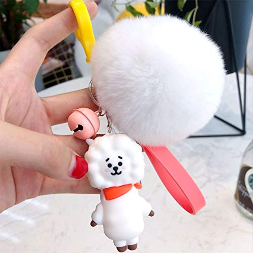 PAPRING RJ Plush 2.7 inch Keychain Small Toy Tiny Toys Collectable Christmas Halloween Birthday Gift Cute Accessories Collectibles New Doll Animal Decoration Collection Collectible for Kids Adults