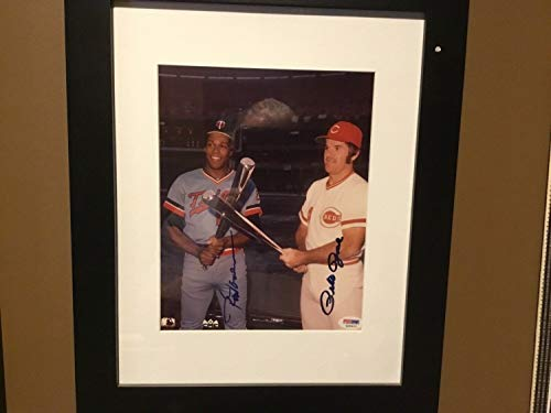 Rod Carew And Pete Rose Autographed Signed Photo - Certified Signature