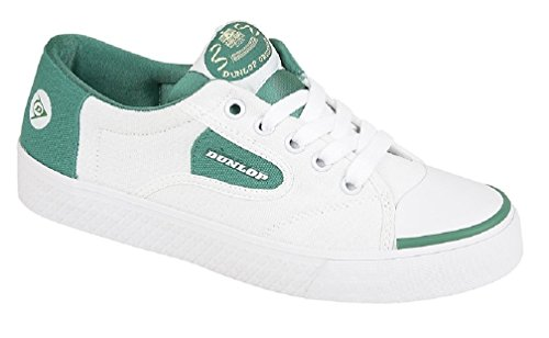 Dunlop Green Flash Lace Unisex Shoes White / Green