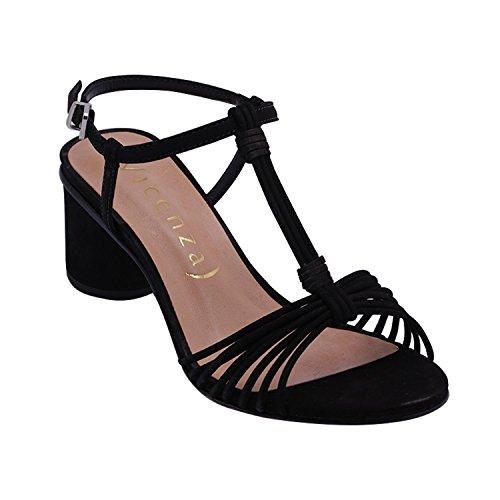 Mujer Sandalias Negro para de Vicenza Vestir Xx8wndIP8q