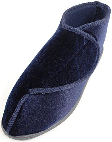 Snugrugs Femme / Femme Orthopédique / Eee Wide Fit Velcro Chaussure / Pantoufle Marine