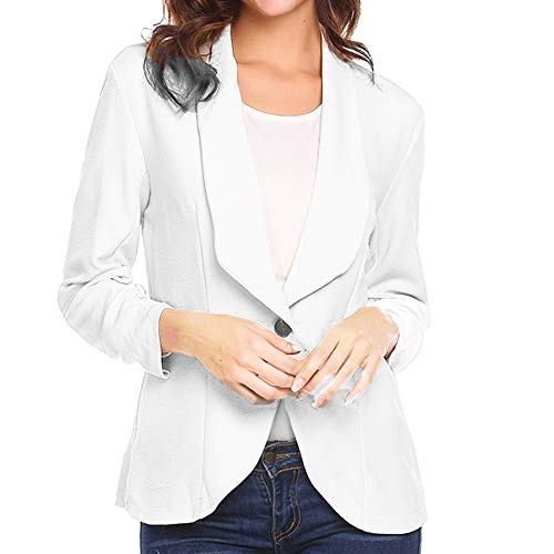 Blazer Sleeve Slim Three Women Polyester Quarter Cardigan Suits Work Elegant Short White Coat Xmiral Suit 0ZYSY