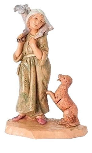- Fontanini Ethan the Shepherd with a Dog Italian Nativity Village Figurine