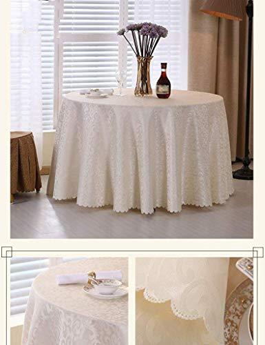1 Round- 260cm CFHJN HOME nappe imperméable, anti-brûlure, prougeection contre l'huile, facile à nettoyer, drapeau de table, couverture de serviette, drapeau de meuble, drapeau de lit