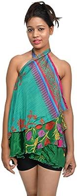 Handmade Silk Art Wrap indio aproximadamente falda panel exterior ...