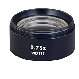 OMAX 0.75X Auxiliary Lens for Stereo Microscope with Standard 48mm Male Thread