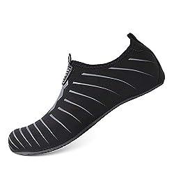 Heeta Water Sports Shoes For Women Men Quick Dry Aqua Socks Swim Barefoot Shoes For Beach Pool Surf Swim Yoga Black B S