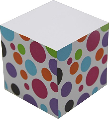 4A Sticky Memo Cube,2 1/2 Inches,Bubble Patterned Printed On The Four Sides,Self-Stick Notes Cube,About 500 Sheets/Cube,1 Cube/Pack,4A SMC - Cube Stationary