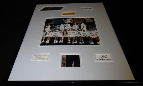 2005 North Carolina Tar Heels Champs Team Signed Framed 16x20 Photo Display