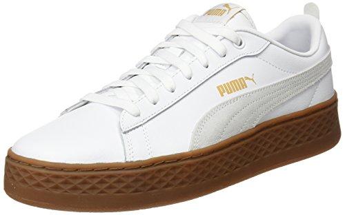 White puma Mujer Zapatillas Para Puma puma Smash Platform 02 White Blanco L T0q481w