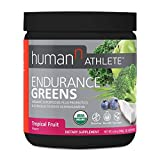 HumanN Athlete Endurance Greens Gluten-Free Vegan Superfood with Ashwagandha and Probiotics GMO-Free Certified Organic Supplement (Tropical Fruit, 6.34-Ounce)