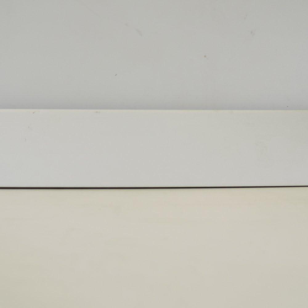 Fussleisten Mega 20x58mm ✓Clip Leiste ✓unsichtbare Befestigung ✓weisse Bodenleiste mdf Sockelleisten wei/ß Folie mit Kabelkanal Fussbodenleiste weiss L/änge 2.5m KGM Sockelleiste wei/ß 58mm