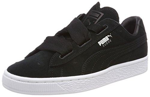 Puma Suede Heart Valentine Jr, Zapatillas Para Niñas Negro (Puma Black-puma Black)