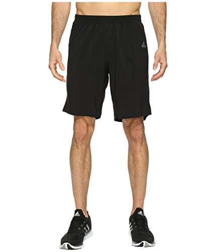 adidas Men's Running Response Shorts, Black/Light Scarlet Red, Large/9