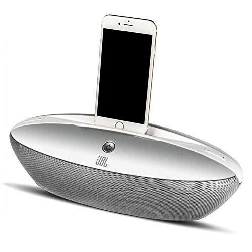 Bluetooth Speaker Docking Station Alarm Clock FM Radio Lightning Dock for iPhone 5/5S/5C/6/6/6S/7/7/iPad Air Mini iPod with Call Function,Gray