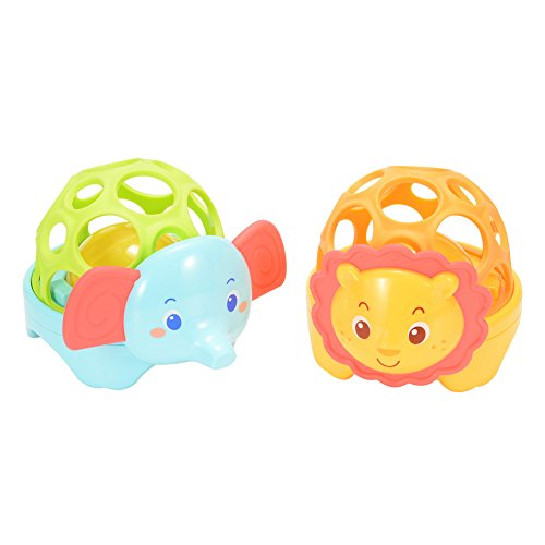 LanLan Soft Baby Animal Ball Toy with Light and Sound Educational Toys (6 Pieces)
