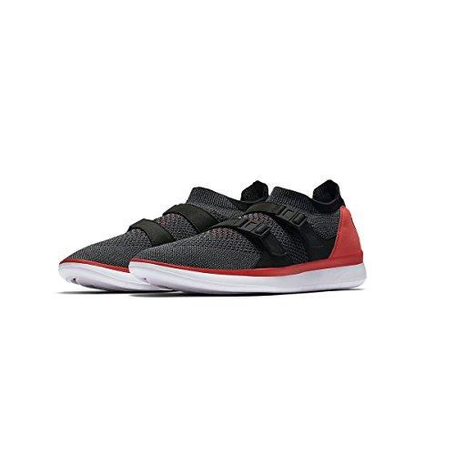 NIKE Mens Air Soccer Racer Flyknit Red/Dark Grey 898022-600 (Size: 12)