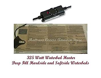 Waterbed heater for California king, queen single hardside water bed mattresses