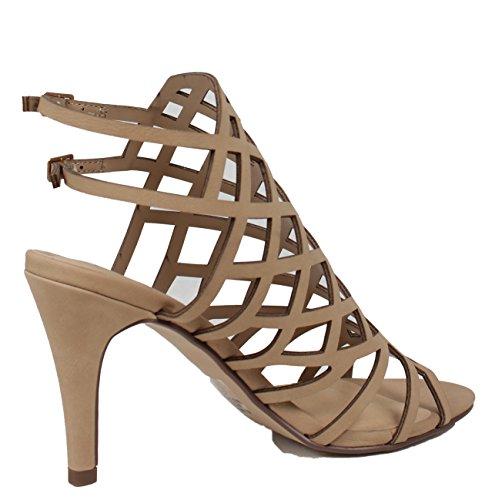 Donna Classificata Open Toe Strappy Estirpante Cinturino Alla Caviglia Con Tacco Alto Sandalo Naturale