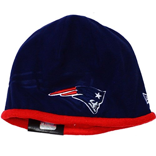 Men's New Era NFL 2015 New England Patriots Sideline Tech Knit Hat Navy/Red Size One Size