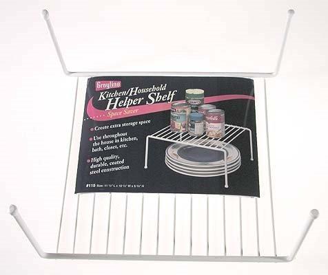 Panacea Grayline 40115, Medium Kitchen Helper Shelf, White