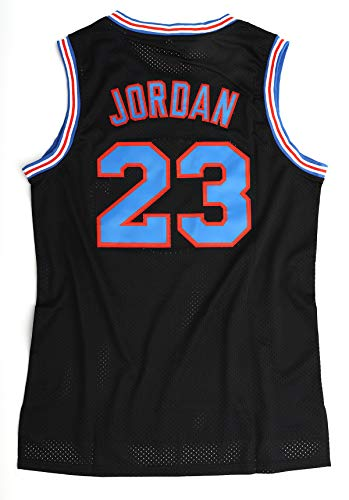 N-A Men's Basketball Jersey 23# Space Movie Jersey Summer Shirts White/Black S-XXL