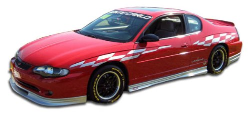 Duraflex Replacement for 2000-2007 Chevrolet Monte Carlo Racer Side Skirts Rocker Panels - 2 Piece (Monte Carlo Racer)