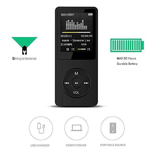 (Portable MP3 MP4 Player LCD Screen FM Radio Video Games Movie, Full-band FM stereo radio)