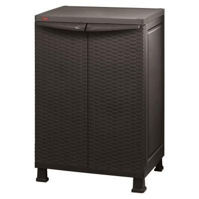 "Keter 215659 26"" x 39"" Freestanding Indoor/outdoor Plastic Rattan Base Cabinet"