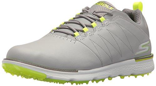 Skechers Men's Go Elite 3 Golf-Shoes,gray/lime,10 M US (Best Discount Golf Equipment Websites)