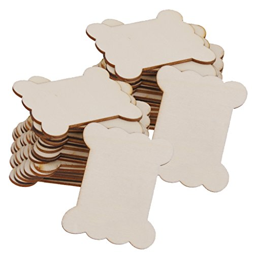 - Jili Online 40-Piece Wood Spool Flat Blank Tread Twine Bobbin Organizer
